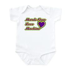 Mardi Gras Love Machine Infant Bodysuit