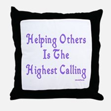 Helping Others Throw Pillow