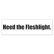 Heed the Fleshlight Bumper Bumper Sticker