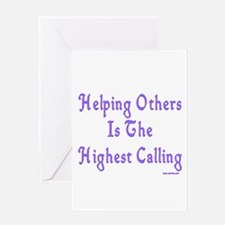 Helping Others Greeting Card