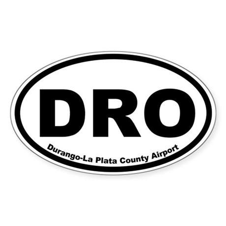 Durango-La Plata County Airport Oval Sticker