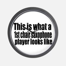 1st Chair Player Wall Clock