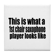 1st Chair Player Tile Coaster