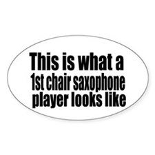 1st Chair Player Oval Decal
