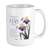 100th birthday Large Mugs (15 oz)