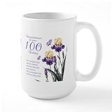 100th birthday Large Mugs (15 oz)