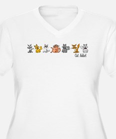 cataddict Plus Size T-Shirt