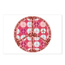 Pink - Peace on Earth Postcards (Package of 8)