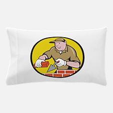 Bricklayer Bricks Trowel Circle Cartoon Pillow Cas