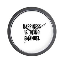 Happiness is being Emanuel Wall Clock