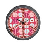 Pink - Peace on Earth Wall Clock
