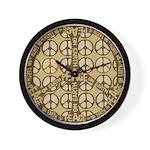 Multi Color Peace Symbol Anti War Wall Clock