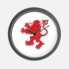 Lion Red Wall Clock