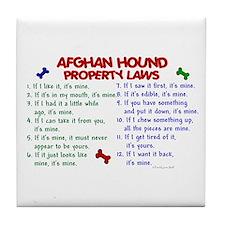 Afghan Hound Property Laws 2 Tile Coaster