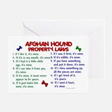 Afghan Hound Property Laws 2 Greeting Card