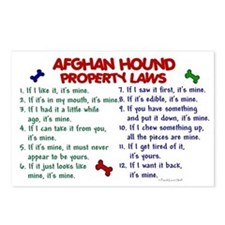 Afghan Hound Property Laws 2 Postcards (Package of