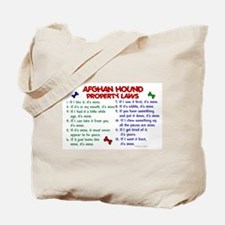 Afghan Hound Property Laws 2 Tote Bag