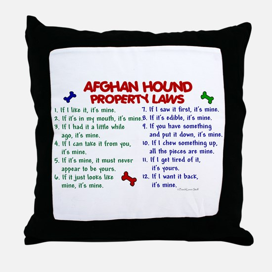 Afghan Hound Property Laws 2 Throw Pillow
