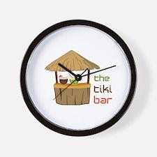 The Tiki Bar Wall Clock