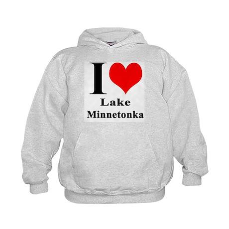 I Heart Lake Minnetonka Kids Hoodie
