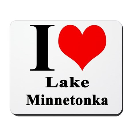 I Heart Lake Minnetonka Mousepad