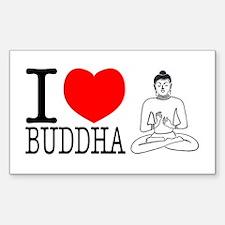 I Love Buddha Decal