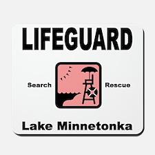 Lifeguard in Pink Mousepad