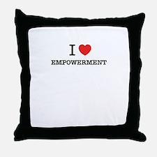 I Love EMPOWERMENT Throw Pillow