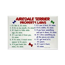 Airedale Terrier Property Laws 2 Rectangle Magnet