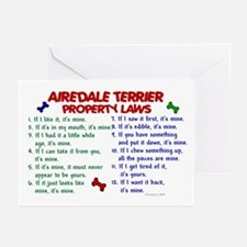 Airedale Terrier Property Laws 2 Greeting Cards (P