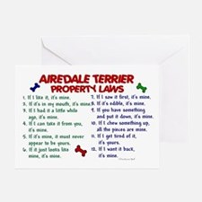 Airedale Terrier Property Laws 2 Greeting Card
