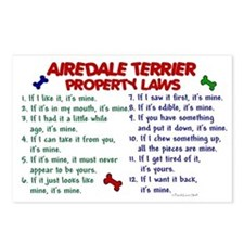 Airedale Terrier Property Laws 2 Postcards (Packag