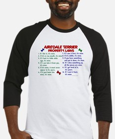 Airedale Terrier Property Laws 2 Baseball Jersey
