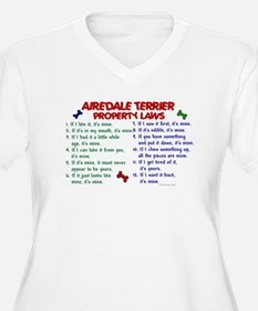 Airedale Terrier Property Laws 2 T-Shirt