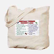 Airedale Terrier Property Laws 2 Tote Bag