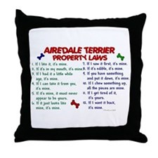 Airedale Terrier Property Laws 2 Throw Pillow