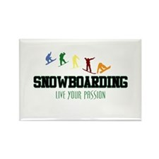 SNOWBOARDING Rectangle Magnet