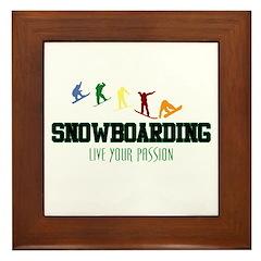 SNOWBOARDING Framed Tile