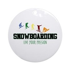 SNOWBOARDING Ornament (Round)
