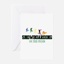 SNOWBOARDING Greeting Cards (Pk of 10)