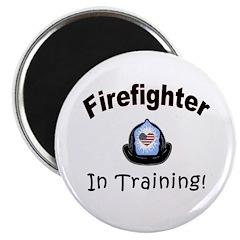 "Firefighter In Training 2.25"" Magnet (10 pack"