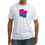Flying Bi Pride Fitted T-Shirt