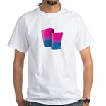 Flying Bi Pride White T-Shirt