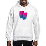 Flying Bi Pride Hooded Sweatshirt