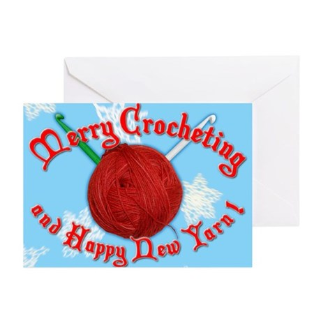 Merry Crocheting Greeting Cards (Pk of 10)