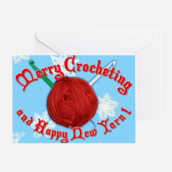 Merry Crocheting Greeting Card