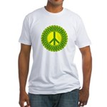 Green Peace Fitted T-Shirt, Made in USA