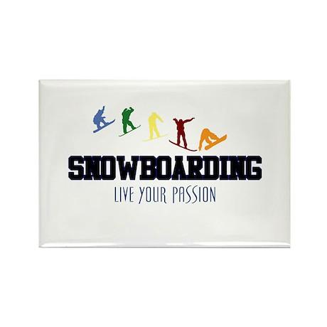 SNOWBOARDING Rectangle Magnet (100 pack)