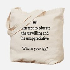 Unique College funny Tote Bag