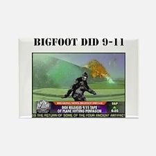 Bigfoot at Pentagon Rectangle Magnet (10 pack)